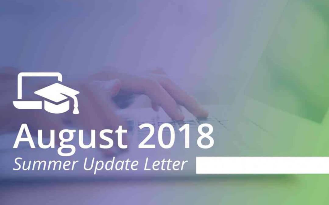 August 2018 Summer Update Letter